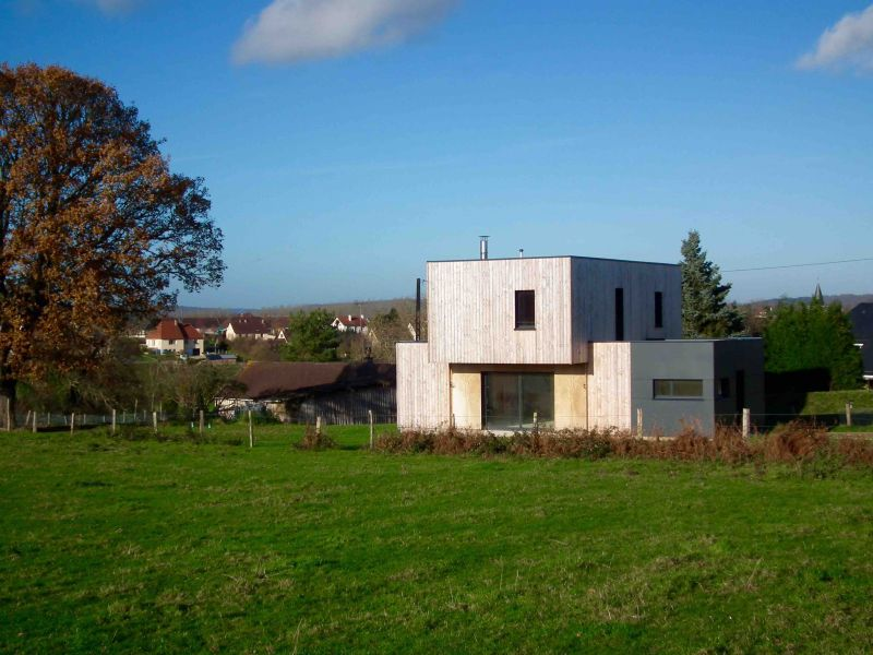 Maison rt 2012 ossature bois 101 m proche de rouen 76 for Maison ossature bois normandie