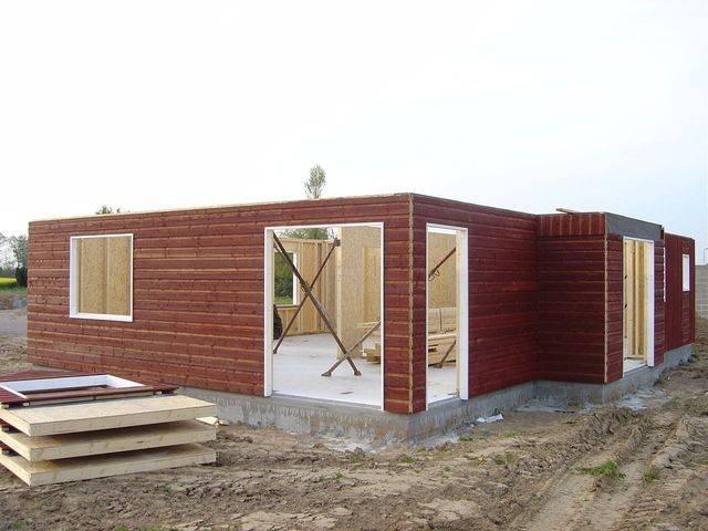 Chantier maison ossature bois etage normandie e2r for Maison ossature bois normandie