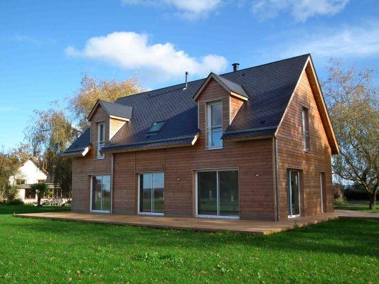 Construction de maison en bois en normandie e2r maisons bois for Maison ossature bois normandie