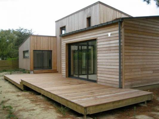 Maison Ossature Bois 145 m u00b2à CABOURG, 14 Normandie E2R Maisons Bois # Maison En Bois Normandie